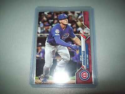 2020 topps series one nico hoerner rc #34/50