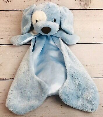 Gund Baby Blue Huggybuddy Spunky Puppy Dog Security Blanket Lovey Plush Satin
