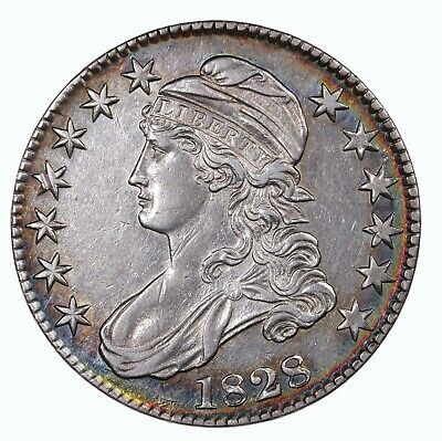 Raw 1828 Capped Bust 50C Uncertified Ungraded US Mint Silver Half Dollar Coin