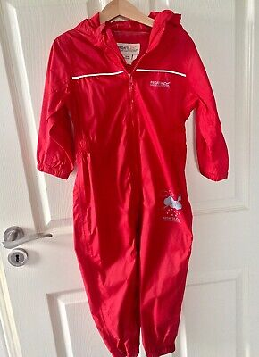 New Regatta Kids Red Puddle Suit Rain Gear 2-3 Years