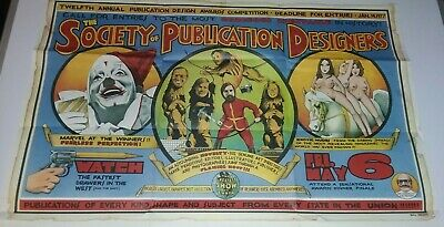 Society of Publication Designers 1977 poster circus theme Call For Entries