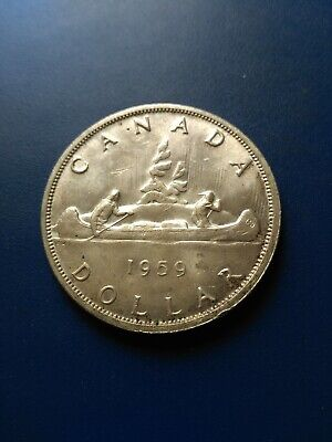 1959 Canadian Silver Dollar ($1), No Reserve!