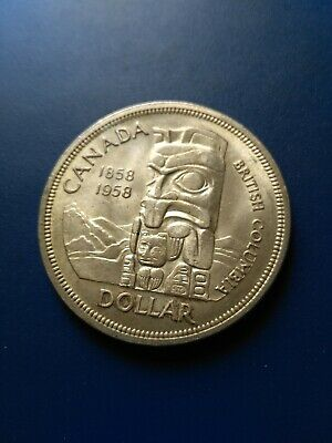 1958 Canadian Silver Dollar ($1), No Reserve!