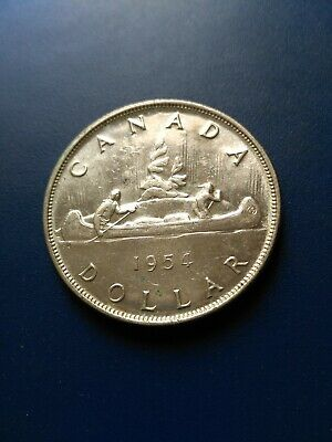 1954 Canadian Silver Dollar ($1), No Reserve!