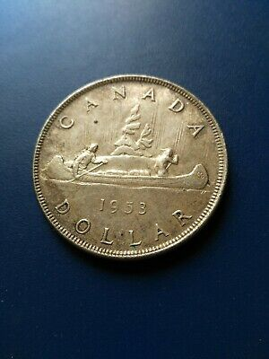 1953 Canadian Silver Dollar ($1), No Reserve!