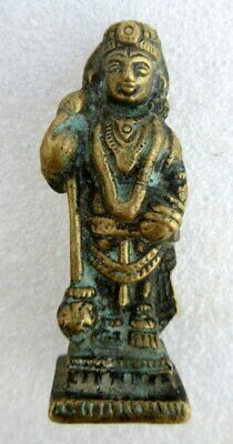 Antique Old Rare Brass South Indian Hindu God Vishanu Incarnation Figure Statue