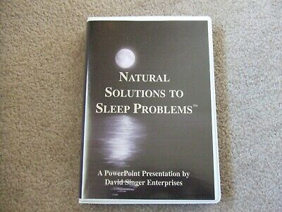 """""""Natural Solutions to Sleep"""" PowerPoint Chiropractic or Acupuncture Dr. Singer"""