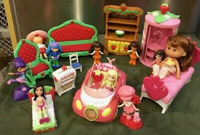 Strawberry Shortcake Dolls/ Car/ Dollhouse furniture/all images included (216)