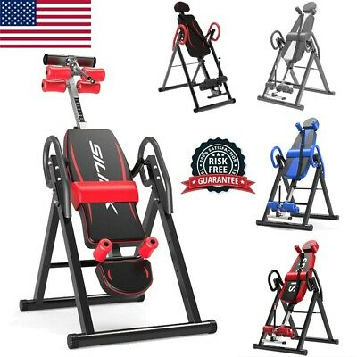 Adjustable Heavy Duty Inversion Table Back Pain Relief Therapy Fitness Gym Home