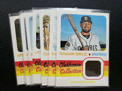 2020 TOPPS HERITAGE CLUBHOUSE COLLECTION JERSEY You PICK Tatis Devers Posey ++++