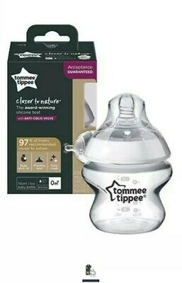 2 Tommee Tippee Closer to Nature 9oz Bottle W Anti-Colic Valve Breast Shaped LOT