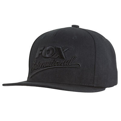 Fox International Black Gorra Snapback Angel Poliéster Plano Pico Diseño