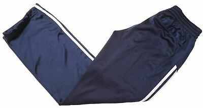 ADIDAS Girls Tracksuit Trousers 13-14 Years Navy Blue Polyester  JZ03
