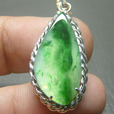 RECOMMEND 3.95 ct Genuine Jadeite Jade (Natural-Type A) Icy-Green Moss-Texture