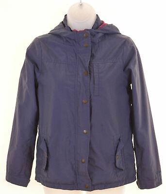 FAT FACE Girls Windbreaker Jacket 10-11 Years Blue Cotton  MO22