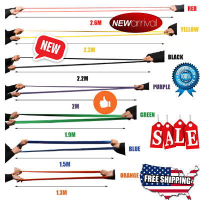 Exercise Bands Latex Resistance Elastic Band - Pull Up Assist Bands Fitness GYM
