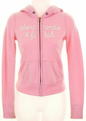 ABERCROMBIE & FITCH Girls Hoodie Sweater 11-12 Years Medium Pink Cotton  MO23