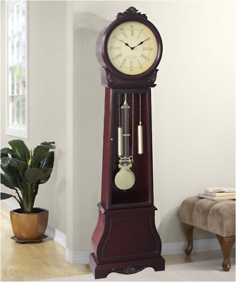 Longcase Grandfather Clock Vintage Traditional Colonial Solid Wood Long Case NEW