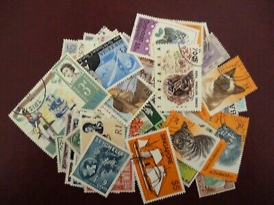 100 Fine Used Stamps From Commonwealth all Circulated Cancels Lovely Selection.