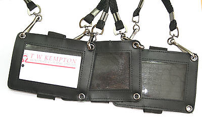 Security SIA Close Protection Black Neck Lanyard with Logo Guard