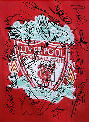 Liverpool Legends 16 x 12 inch hand multi signed authentic football photo SS270D