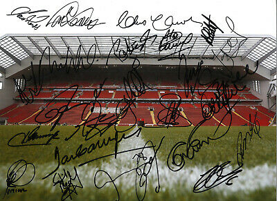 Liverpool Legends 16 x 12 inch hand multi signed authentic football photo SS270G