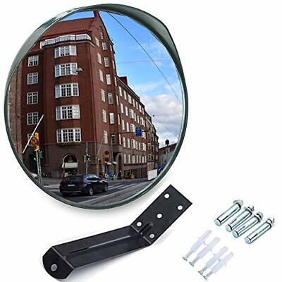 Convex Security Mirror Curved Safety Mirror with Adjustable Fixing Bracket NEW