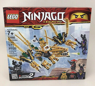 LEGO Ninjago Legacy The Golden Dragon 70666 171 Piece Building Kit Set Toy New
