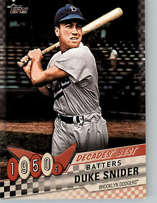 2020 Topps Series 1 DECADES BEST INSERTS - Complete your set, You Pick!