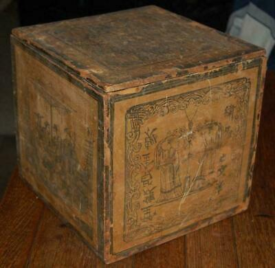 Rare Antique Chinese Asian** Oriental Tea Shipping Export Wood Crate Box