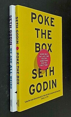 Seth Godin 2 Books Poke the Box + We Are All Weird Business New