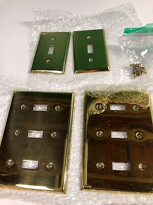 Brass Wall Outlet Plates Gold Finish