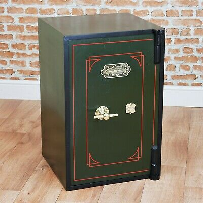 Antique Victorian 'MIDLAND SAFE Co - BIRMINGHAM' Restored Safe With Keys Vintage