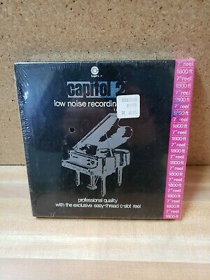 CAPITOL 2 LOW NOISE RECORDING TAPE new sealed #33