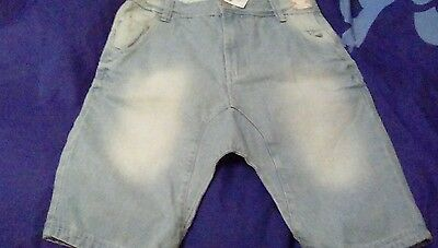 Next Girls Denim Shorts Longer Length slouch Age 12 Years Brand New With Tags