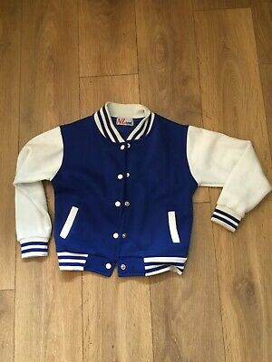 Girls Or Boys Stud Button A2Z 4-Kids Top Blue With Cream Sleeves Age 10