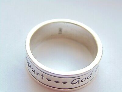 James Avery Sterling Silver ~GOD be with us together and apart~Ring *Size 10.5