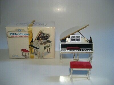 Vintage Dollhouse Furniture Ideal Petite Princess Royal Grand Piano & Bench
