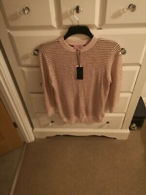 Brand New With Tags On TED BAKER Ladies Size 4 (Large) Rose Gold Jumper
