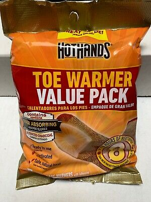 10 Packs That's 10 Pairs of HotHands Toe Warmers Exp 01//2021