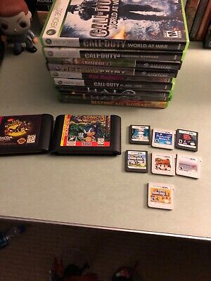Video Game Lot Super Mario Ds Gensis Xbox