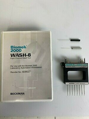 Beckman Biomek 2000 WASH-8 Eight-Channel Wash Tool with Case and more.