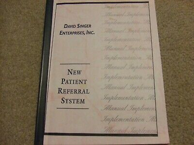 Pre-printed Chiropractic Notes, New Patient Referral System, Dr. David Singer