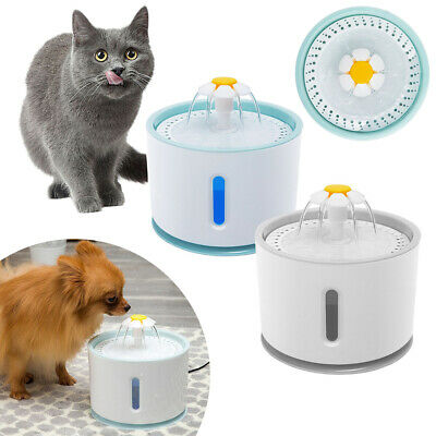 Upgrade Automatic Electric Pet Filter Dish Drinking Bowl Cat Dog Fountain Water