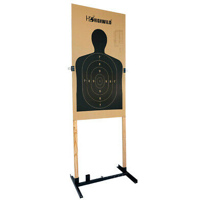 """Premium Metal Base Target Stand Adjustable 13-25/"""" Width For 1x2/"""" Wood Stakes"""