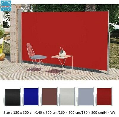 Garden Side Awning Sunshade Retractable Outdoor Privacy Screen Windbreaker 4Size