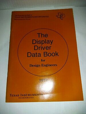 TEXAS INSTRUMENTS Data Book 1977 Display Driver Data Book