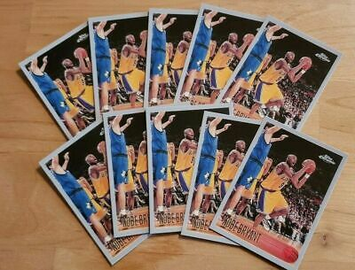 Kobe Bryant Topps Chrome #138 ROOKIE!! RC RP Los Angeles Lakers 10 Card Lot!!!