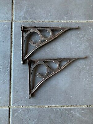 Pair Of Vintage Cast Iron Sink Cistern Shelf Brackets