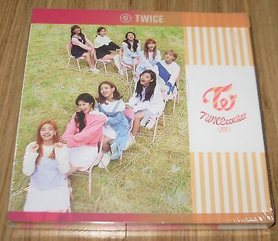 TWICE TWICEcoaster : LANE 1 Apricot Ver. TT CD + PHOTOCARD + 2 FOLDED POSTER NEW